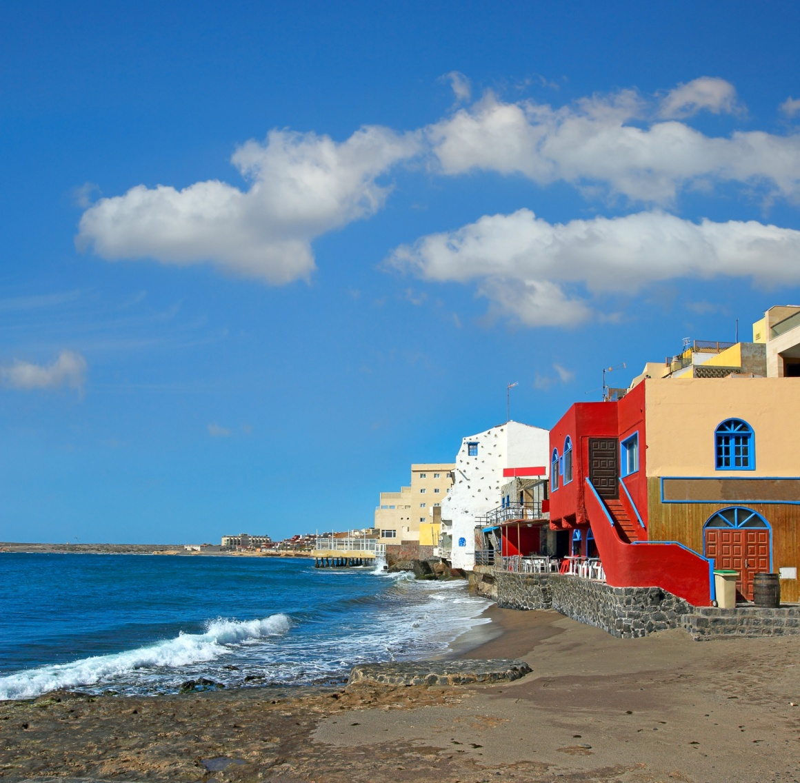'Coast in the tourist resort Medano, Tenerife, Canary Islands, Spain' - Tenerife